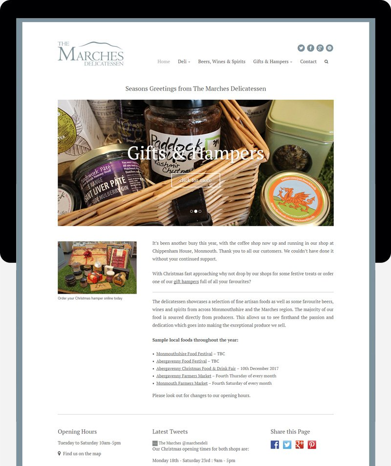 marches ecommerce website web design cardiff swansea bristol uk